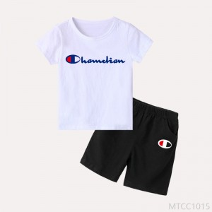 2020 new children's summer sports suits boys short sleeve two-piece girls wear