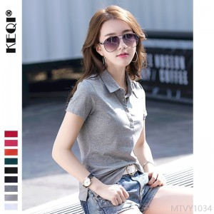 2020 new Korean style slim short-sleeved T-shirt simple fashion top