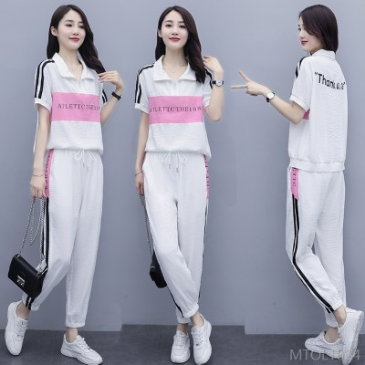 2020 new leisure sports suit fashion two-piece suit