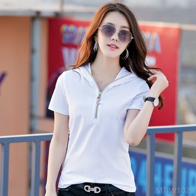 2020 new solid color Korean fashion all-match slim top