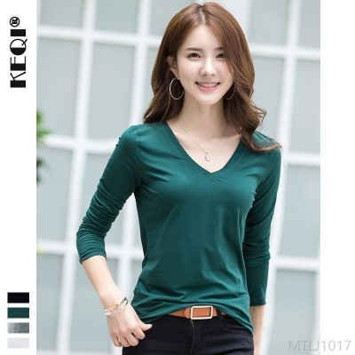 2020 new solid color short sleeve t-shirt bottoming shirt