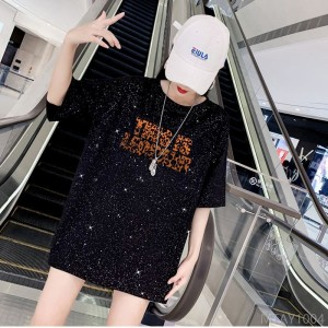 2020 new short-sleeved t-shirt female ins tide net red sequins