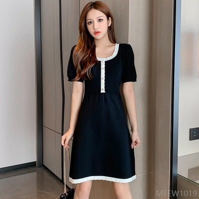 2020 new summer dress Korean version is thin French little black dress trend