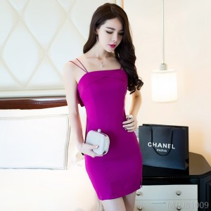 2020 new backless bow suspender dress