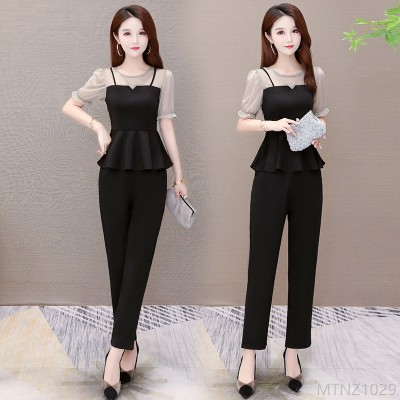 2020 new celebrities, western style, slim fashion two-piece plus size women's clothing