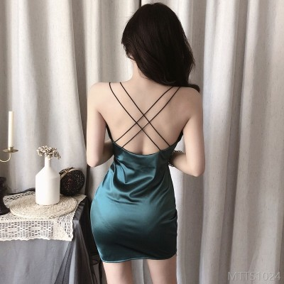 2020 new slim slim sexy bag hip low-cut open back female dress