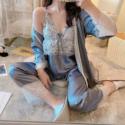 2020 new pajamas can wear two or four-piece suspender nightdress nightgown