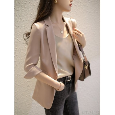 2020 new silk suit jacket thin all-match dress OL
