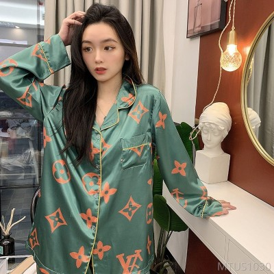2020 new autumn and summer ladies thin simulation silk homewear