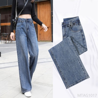 2020 new lengthened high-waisted drape slim straight mopping trousers