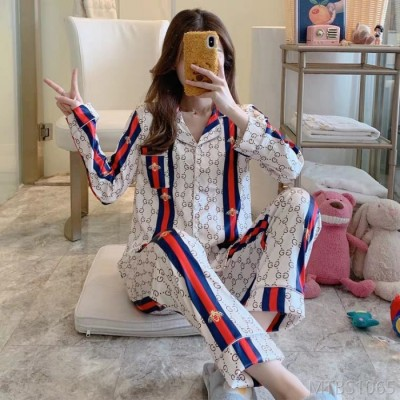 2020 new ice silk pajamas women can be worn outside ladies casual home