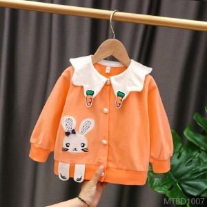 2020 new coat children's cotton knitted cardigan single-breasted jacket