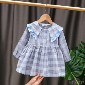 2020 new baby girl dress cotton long sleeve skirt