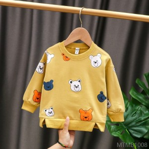 2020 new cotton baby long-sleeved kids T-shirt full