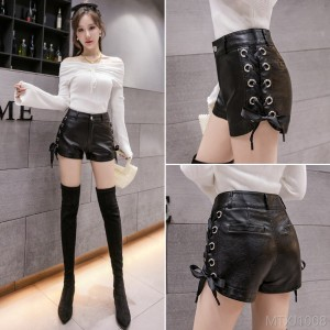 2020 new autumn and winter Korean design sense high waist slim strap ultra short