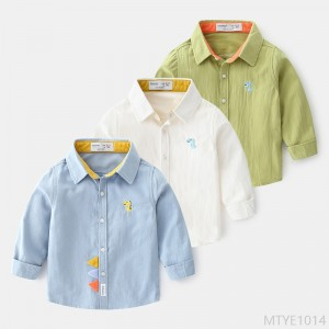 2020 new boys and children trendy cartoon cotton shirt lining