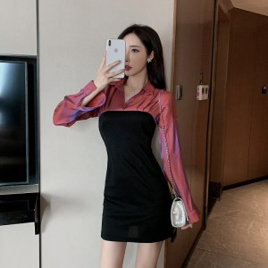 2020 new arrival waist slim long-sleeved dress