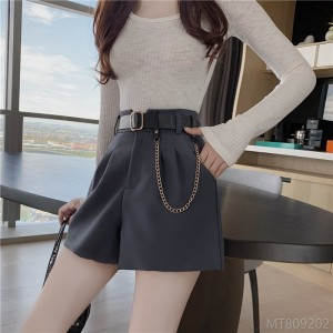 2020 new new real shots real price autumn high waist loose wide leg shorts wild design sense tooling is thin