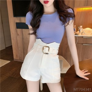 2020 new bud suit shorts temperament is thin and versatile wide-leg pants women