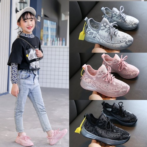 2020 new boys' sports shoes spring and autumn fashion children's breathable net shoes casual girls shoes non-slip net red shoes