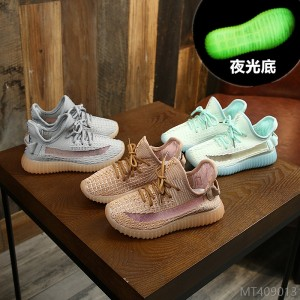 2020 new children's shoes girls casual shoes shoes summer fashion breathable mesh boys sports shoes luminous soles