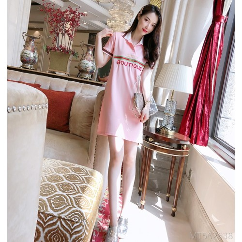 2020 new style 8013# the most explosive high-quality horizontal striped letters casual sports collar dress 18