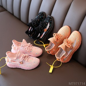 2020 new new small daisy baby shoes autumn fashion children's breathable sneakers boys and girls luminous Zhongda
