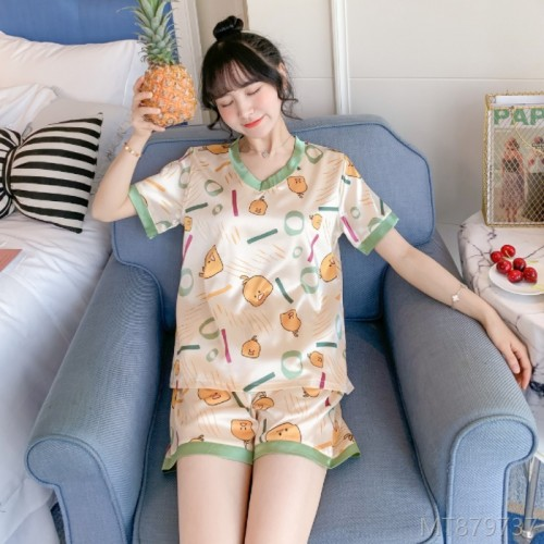 2020 new all-match summer fashion pajamas women's suit