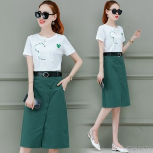 2020 new fashion early spring outfit fashion skirt two-piece commuter
