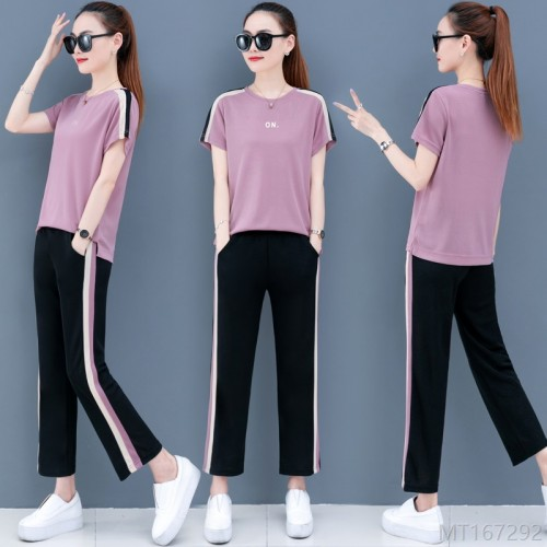 2020 new summer two-piece fashion short sleeve