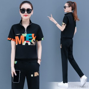 2020 new Korean casual stitching thin summer letters