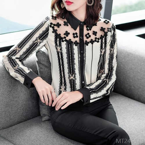 2020 new fashion striped shirt loose and thin