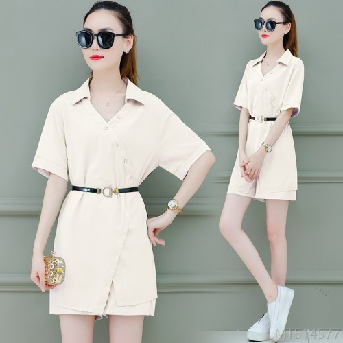 2020 new professional suit female fashionable summer dress fashionable cover belly