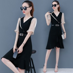 2020 new fashion spring and summer Korean version of the waist and thin fishtail skirt