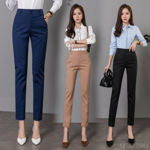 2020 new fashion trousers straight high waist slim slim pencil pants
