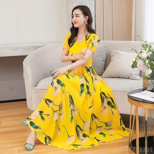 2020 new chiffon dress summer fashion