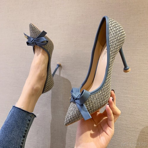 2020 new Korean fashion pointed high heels stiletto
