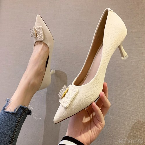 2020 new Korean fashion pointed shallow mouth high heels sexy stiletto