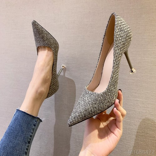 2020 new shallow mouth high heels nightclub slim women's single shoes stiletto