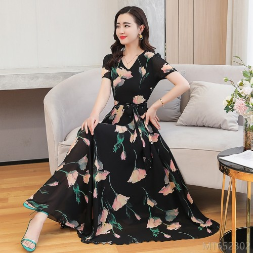 2020 new chiffon dress summer fashion women look thin