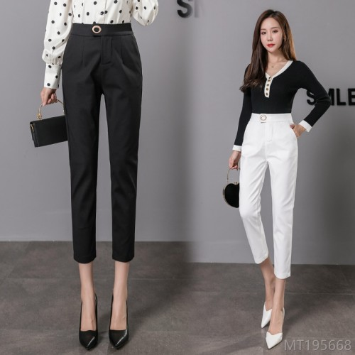 2020 new all-match women's pants autumn fashion high waist straight