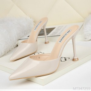 2020 new shallow mouth high-heeled sandals with thin heels