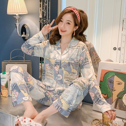 2020 new autumn milk silk fashion pajamas/home wear