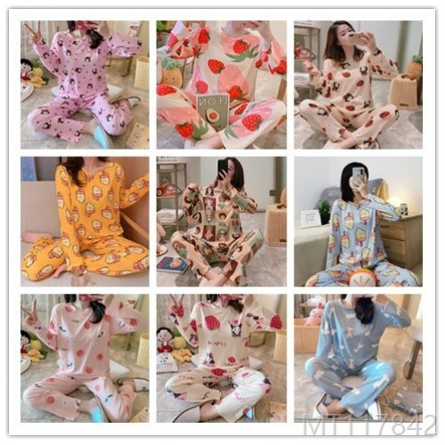 2020 new pajamas women suit milk silk pajamas