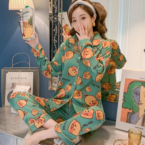 2020 new milk silk fashion little yellow duck pajamas/home service sets