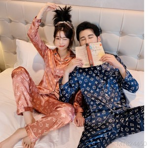 2020 new printed suit ice silk loose Korean silk