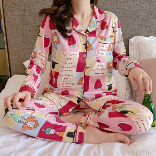 2020 new long-sleeved pajamas women's spring and autumn home service suit pajamas/home service cover
