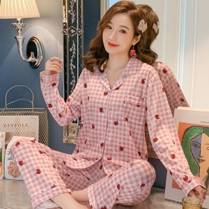 2020 new autumn milk silk fashion pajamas/home service sets