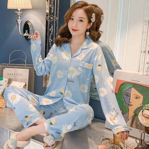 2020 new milk silk fashion 909# chrysanthemum home service suit