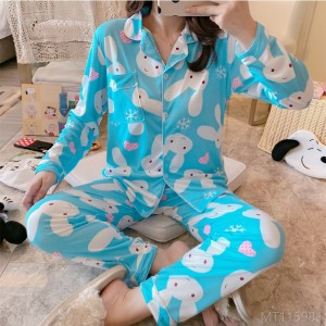 2020 new long-sleeved pajamas women's home service suit pajamas/home service set